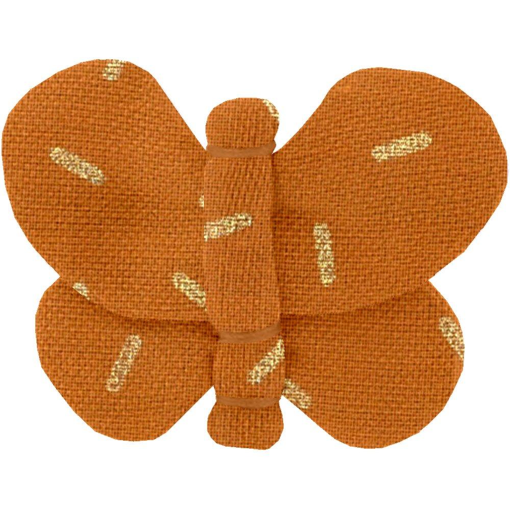 Barrette petit papillon paille dorée caramel