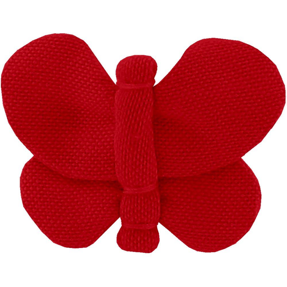 Barrette petit papillon rouge