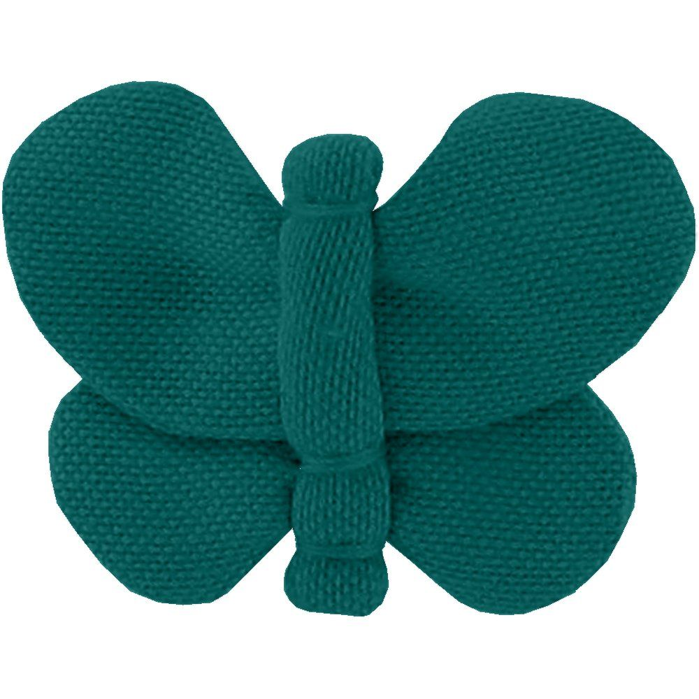 Barrette petit papillon  vert émeraude