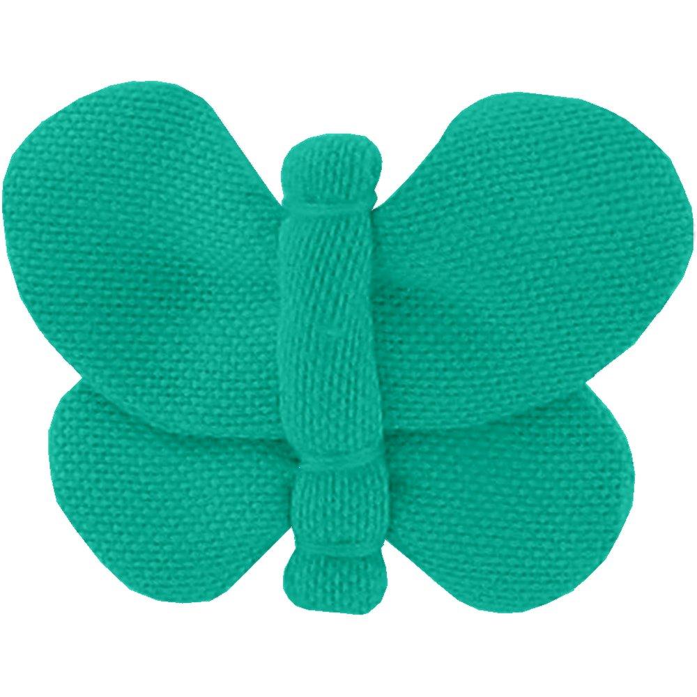 Barrette petit papillon vert laurier
