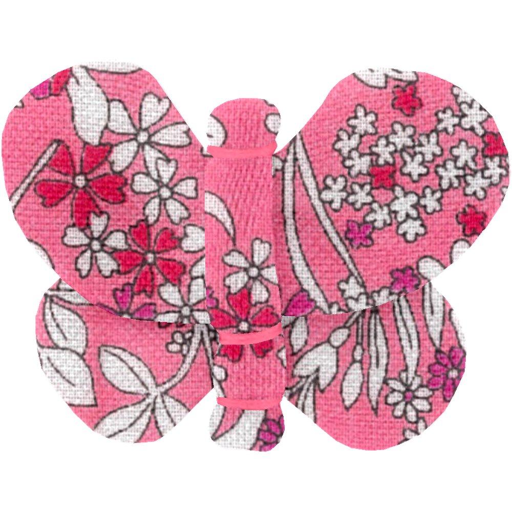Barrette petit papillon violette rose