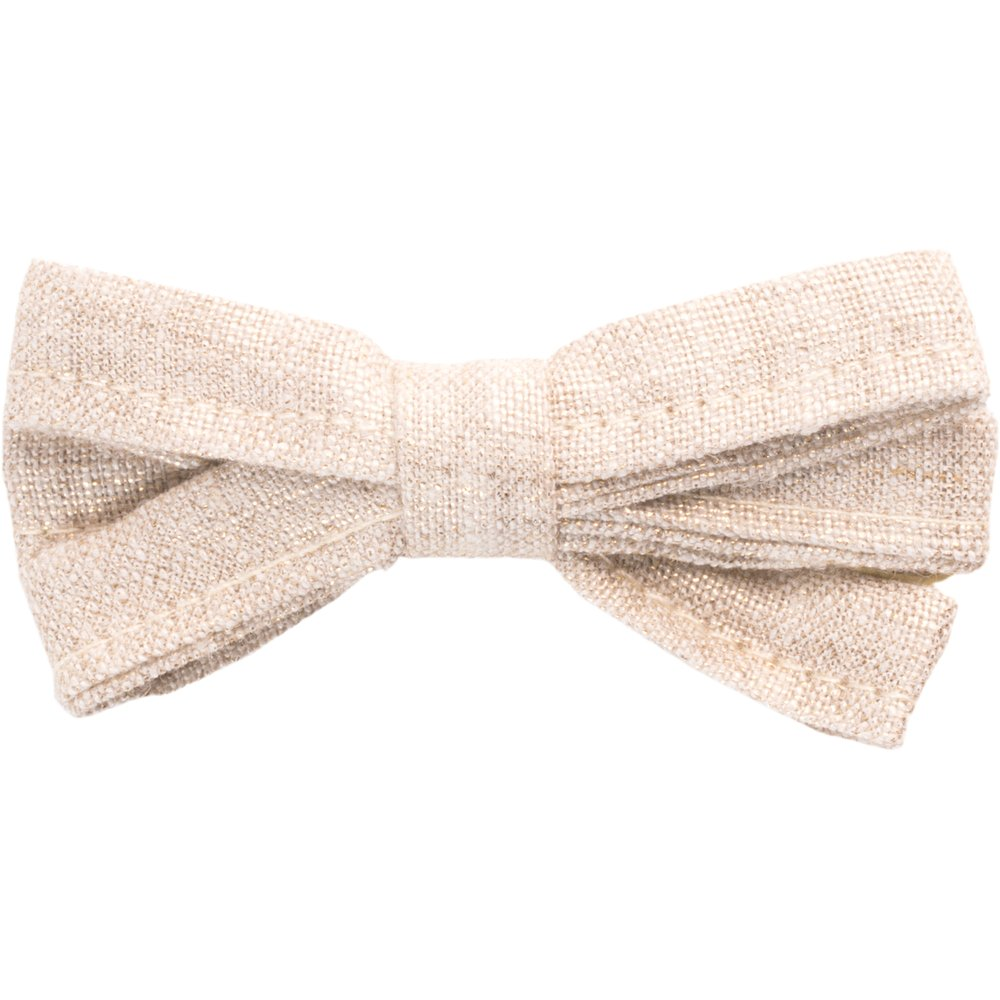 Ribbon bow hair slide  glitter linen