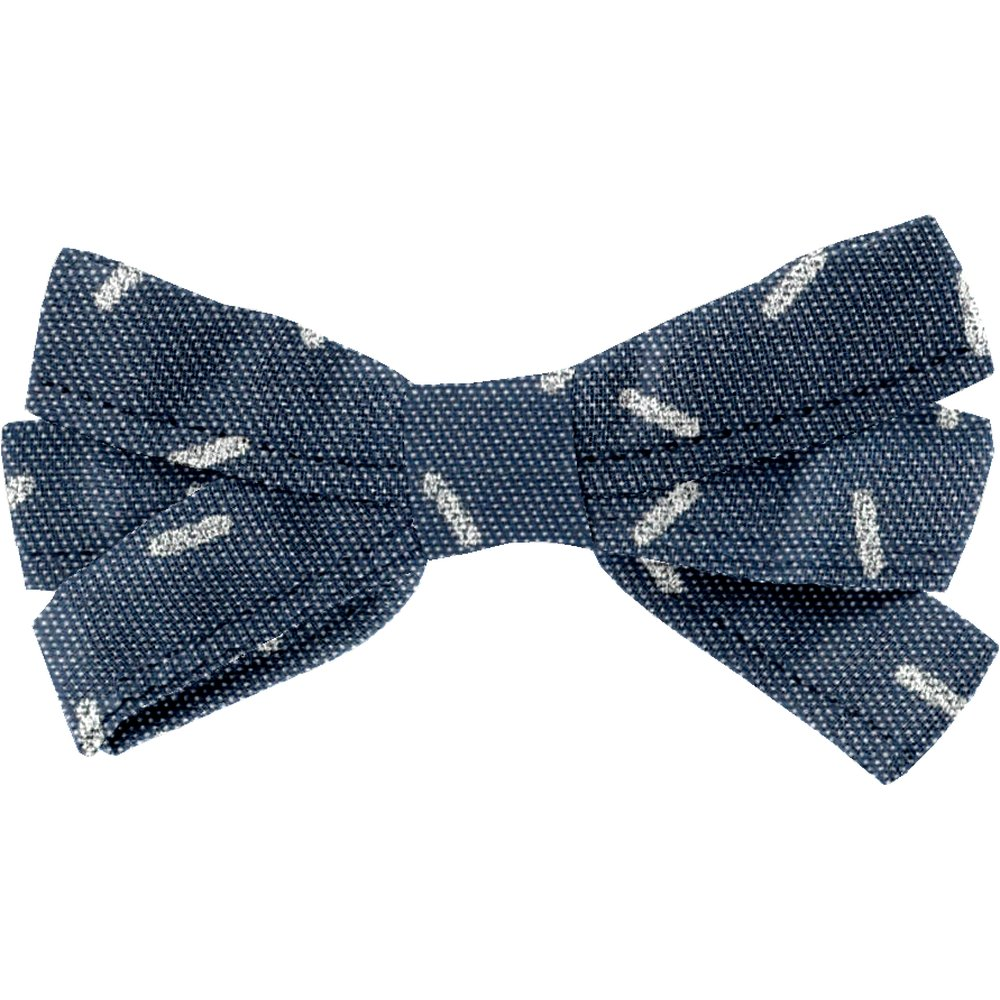 Ribbon bow hair slide silver straw jeans
