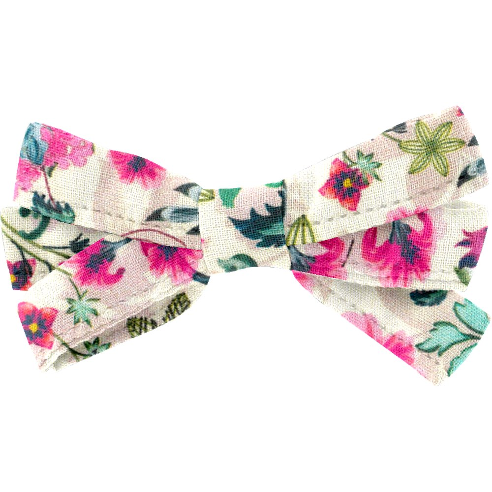 Ribbon bow hair slide spring