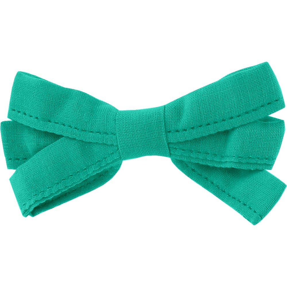 Ribbon bow hair slide green laurel