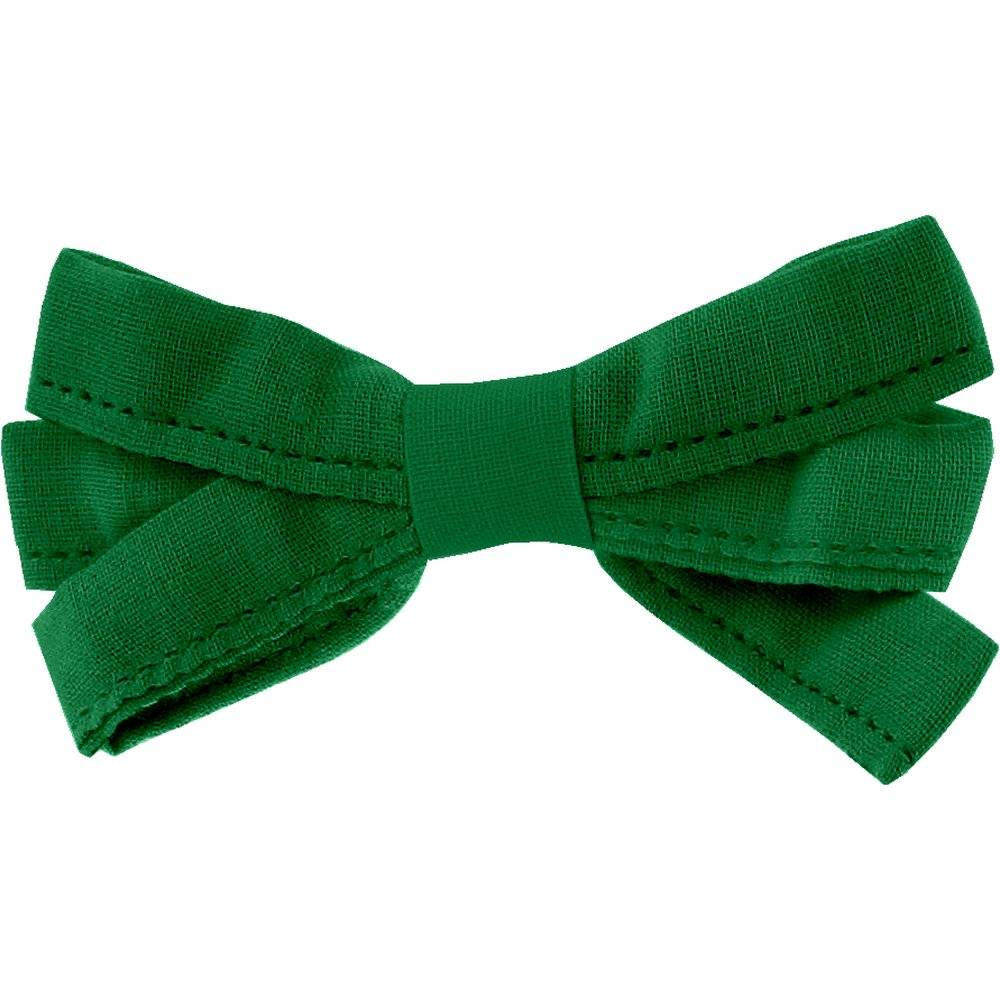 Ribbon bow hair slide bright green