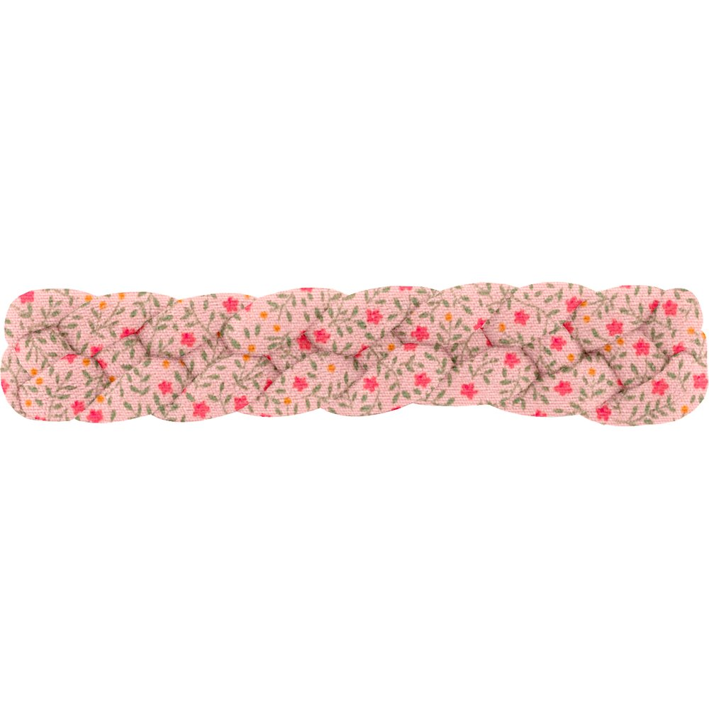 Plait hair slide mini pink flower