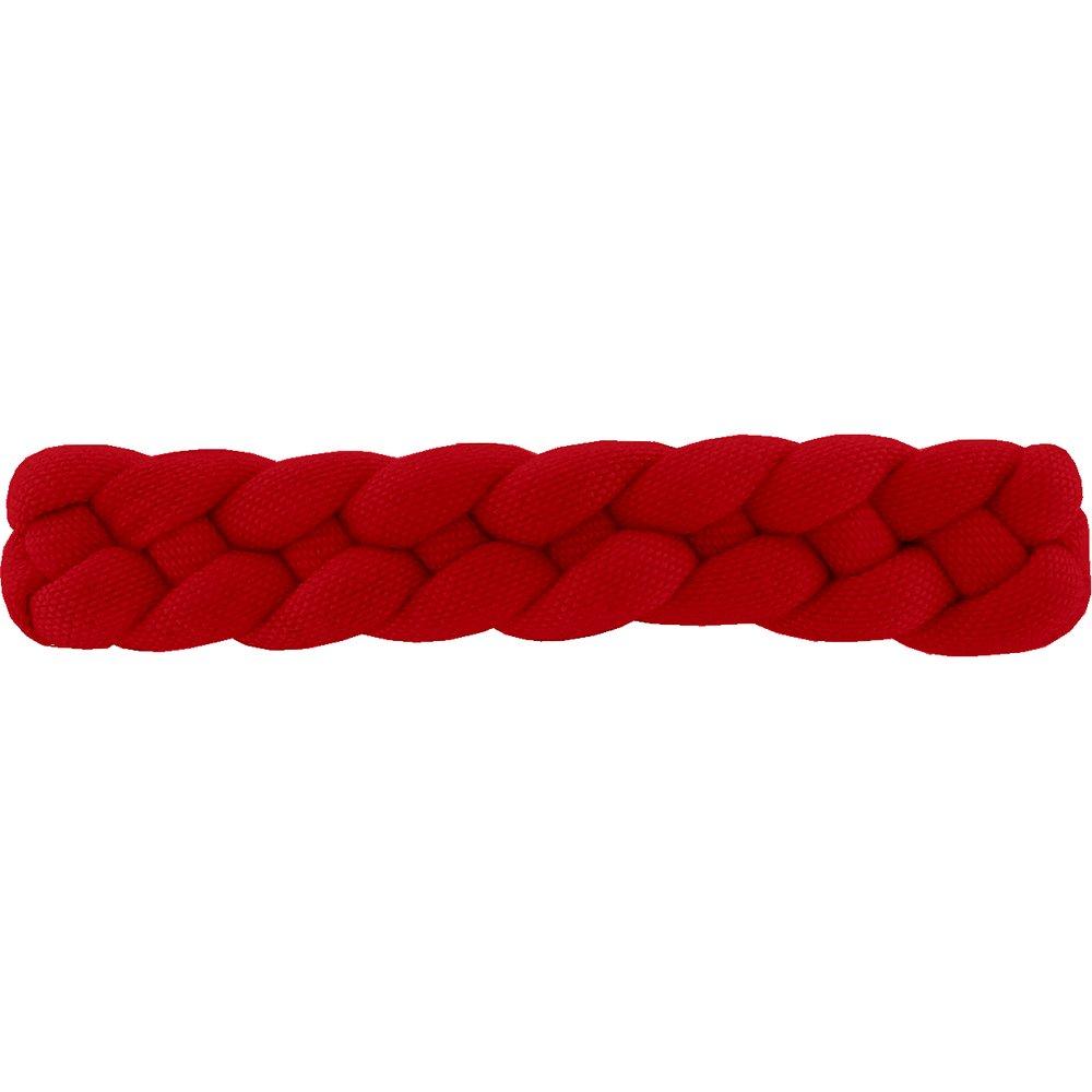 Barrette cheveux tressée rouge