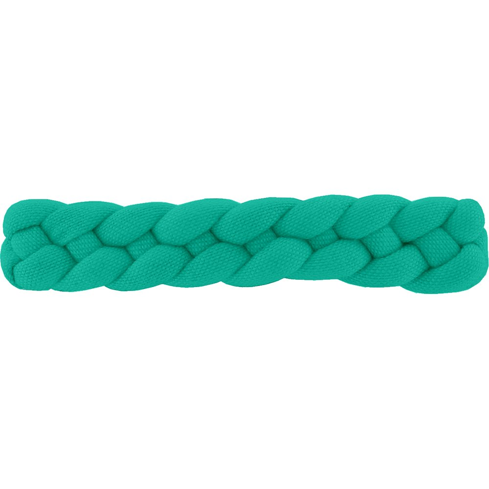 Plait hair slide green laurel