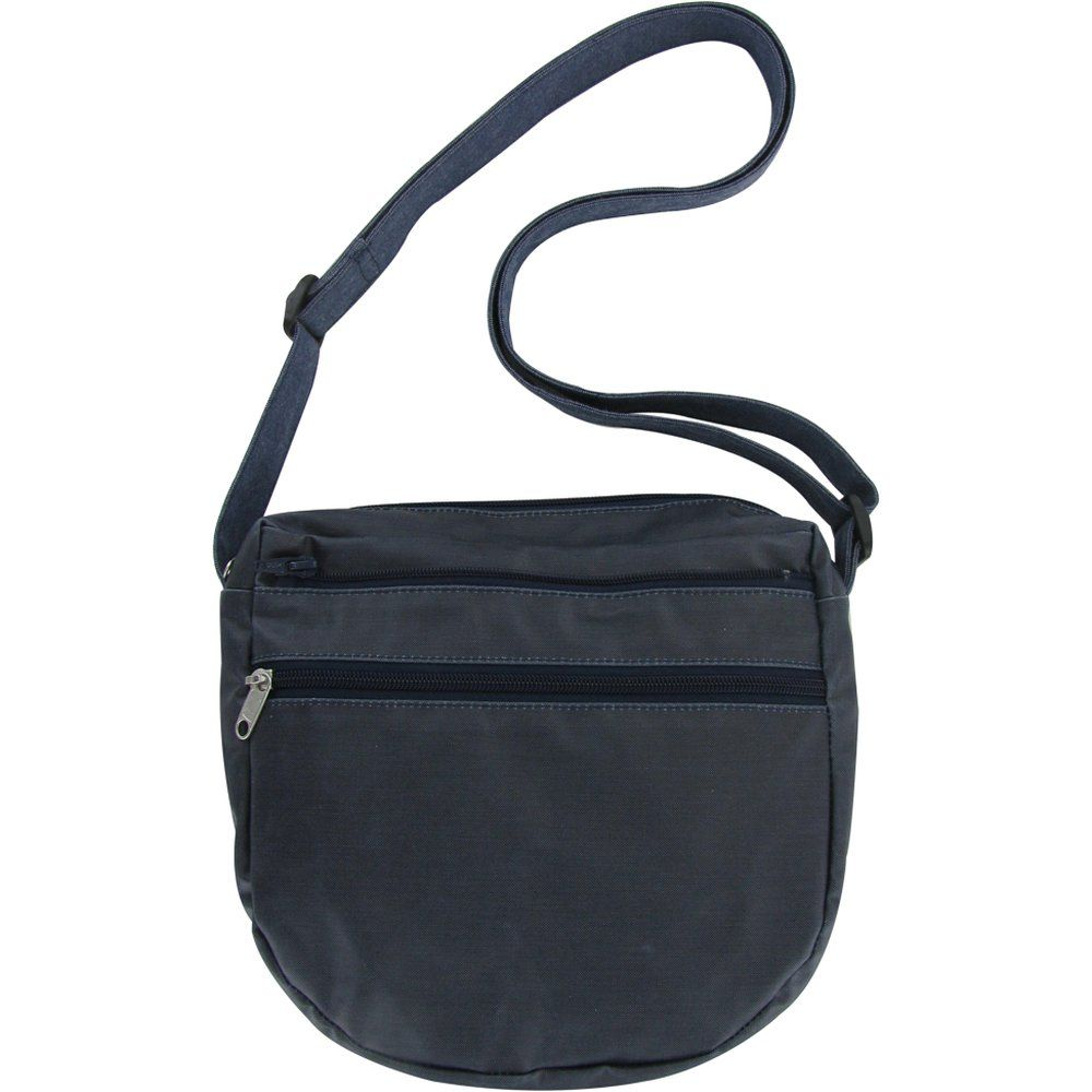 Base of small saddle bag light denim