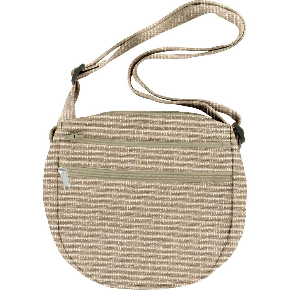 Base of small saddle bag silver taupe