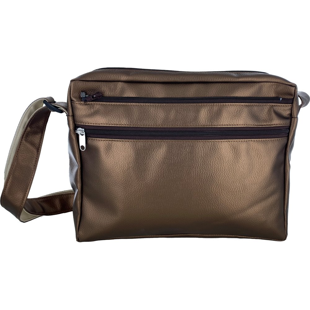 Base of satchel bag lézard bronze