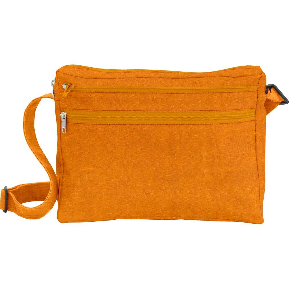 Base sac besace carrée lin jaune