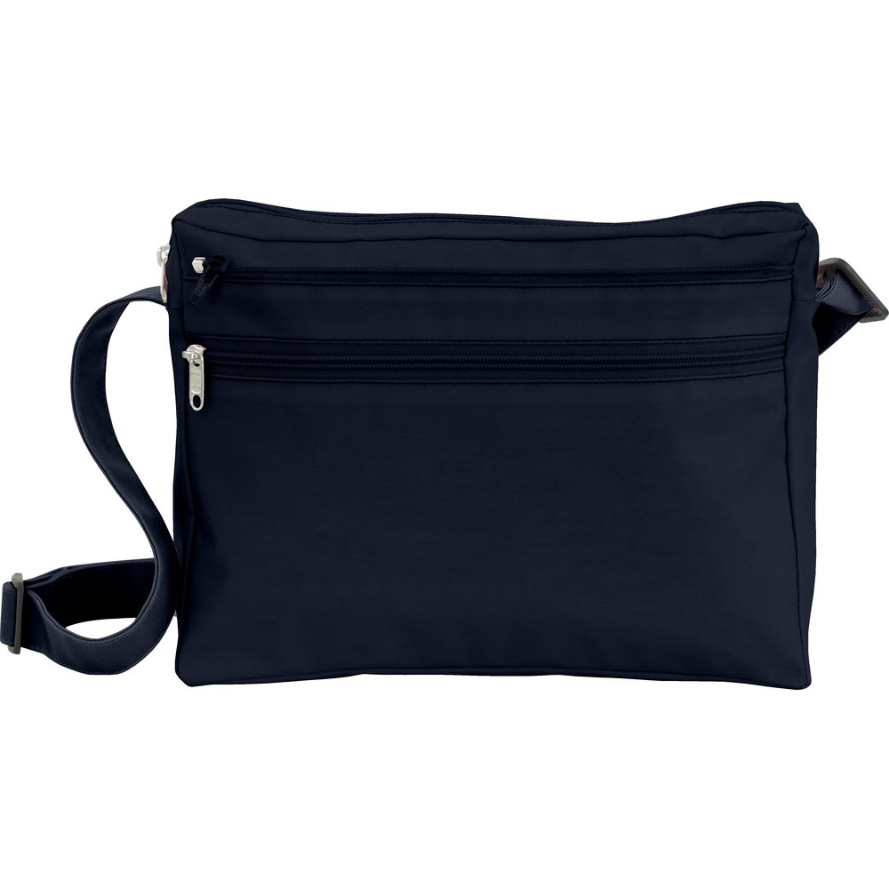 Base of satchel bag navy blue
