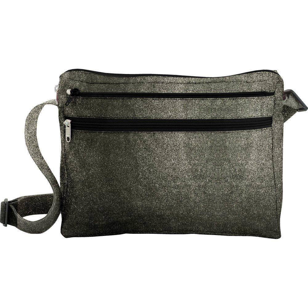 Base sac besace carrée suédine noire
