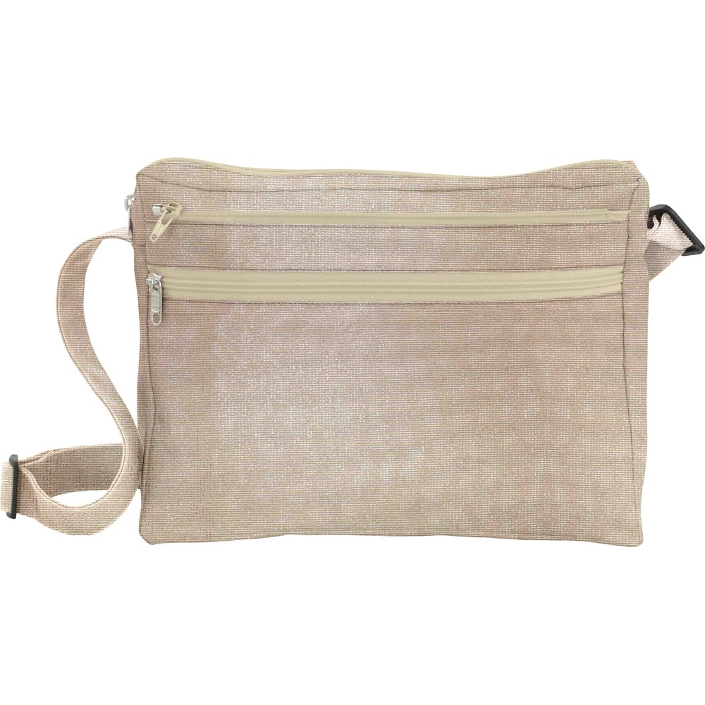 Base sac besace carrée taupe argent