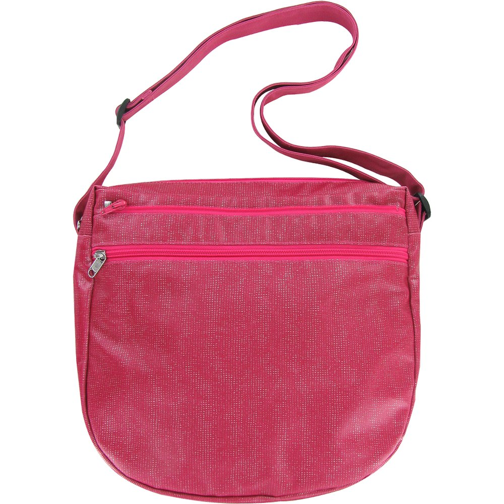 Base of saddle bag  silver fuchsia