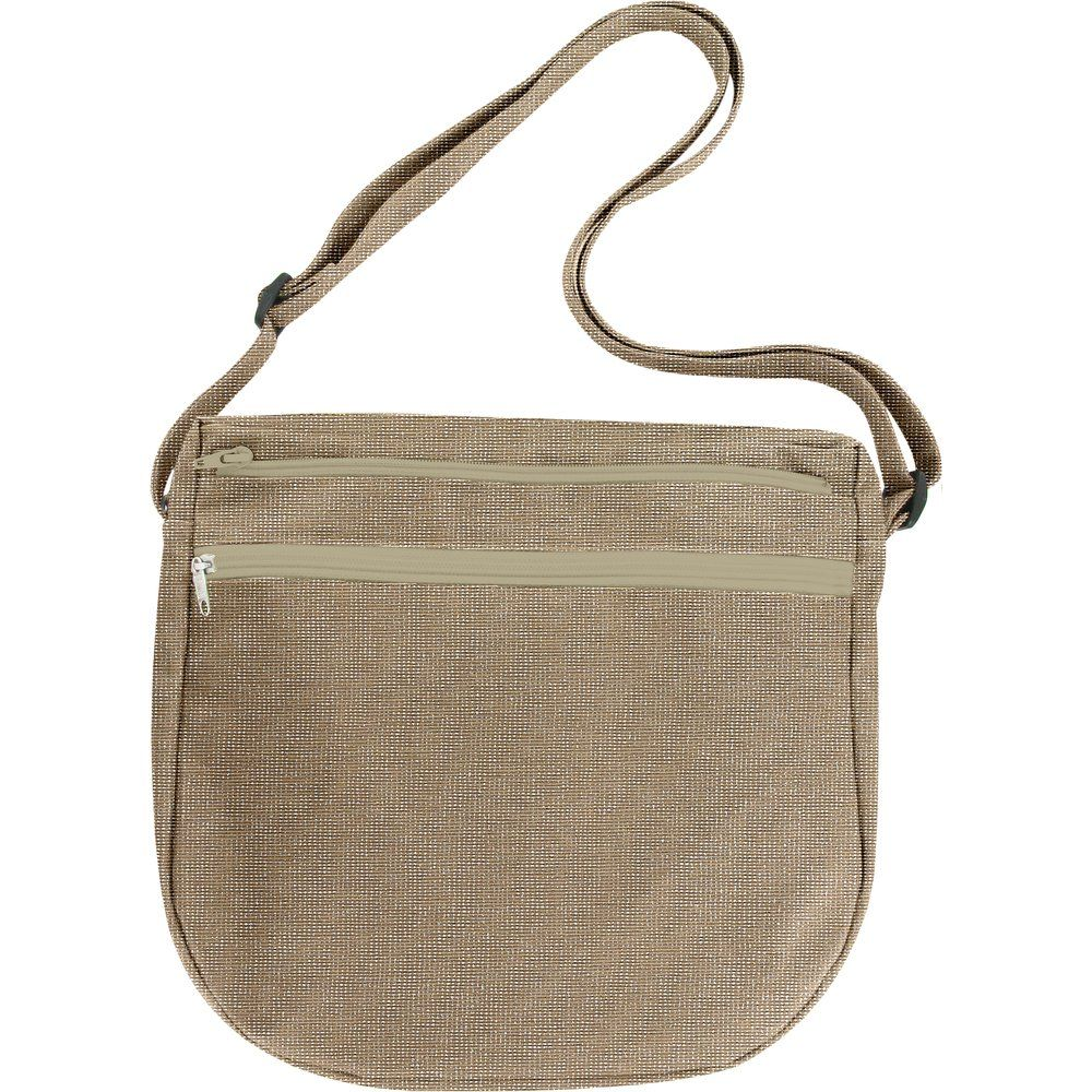 Base sac besace taupe argent