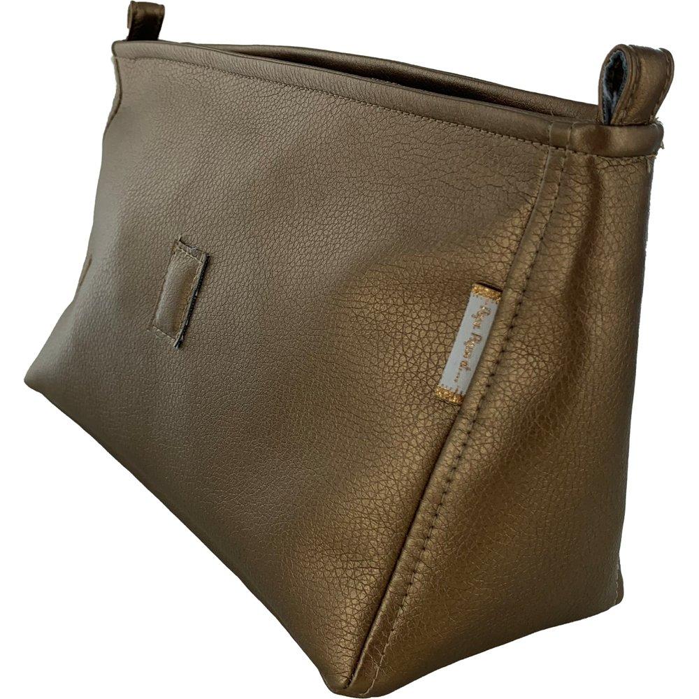 Base of shoulder bag lézard bronze