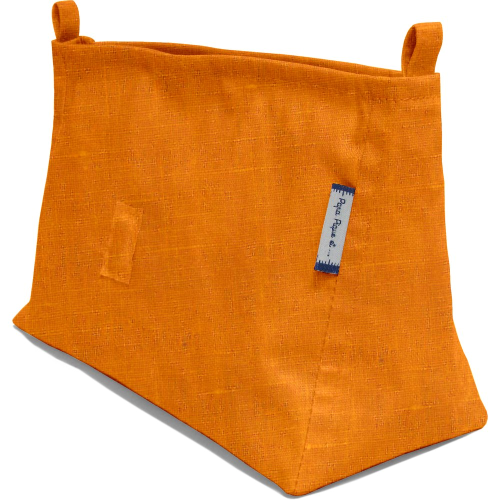Base of shoulder bag yellow linen