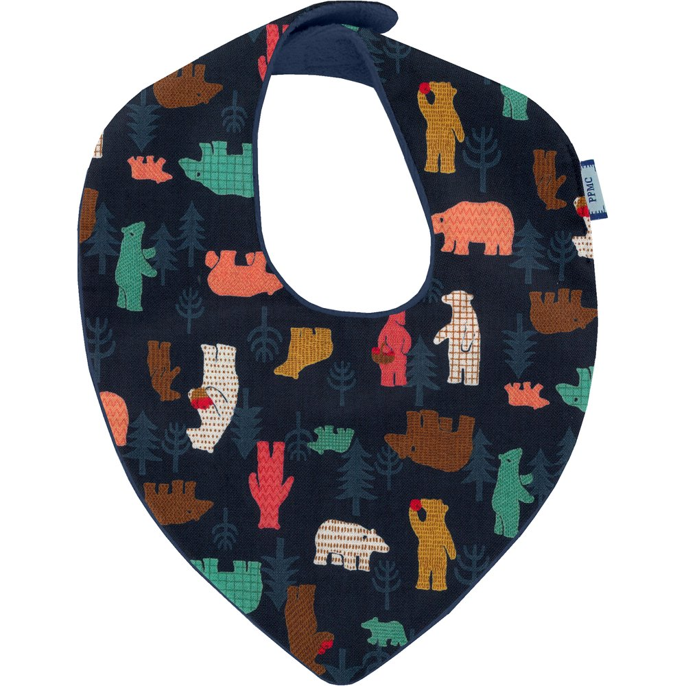 bandana bib grizzly