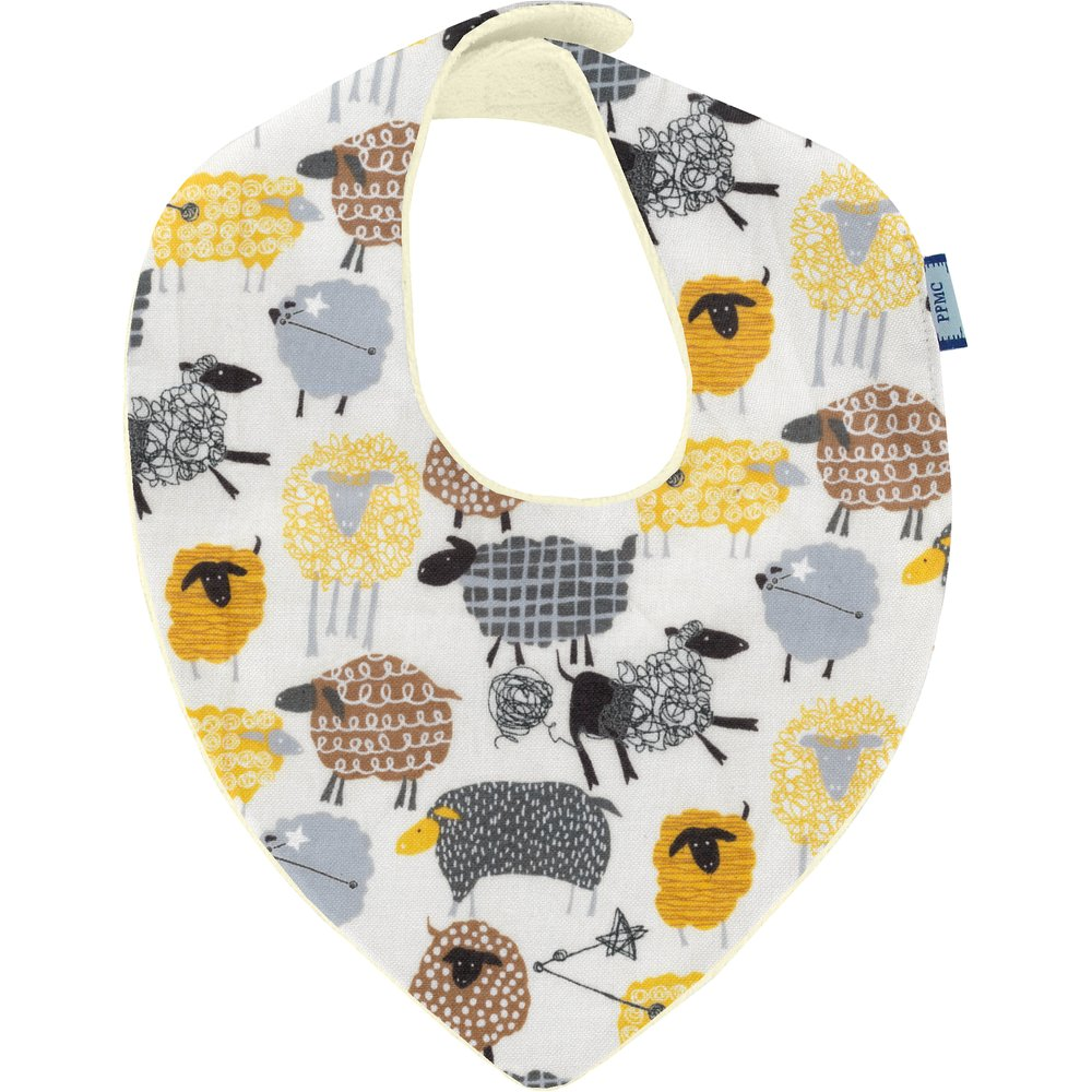 bandana bib yellow sheep
