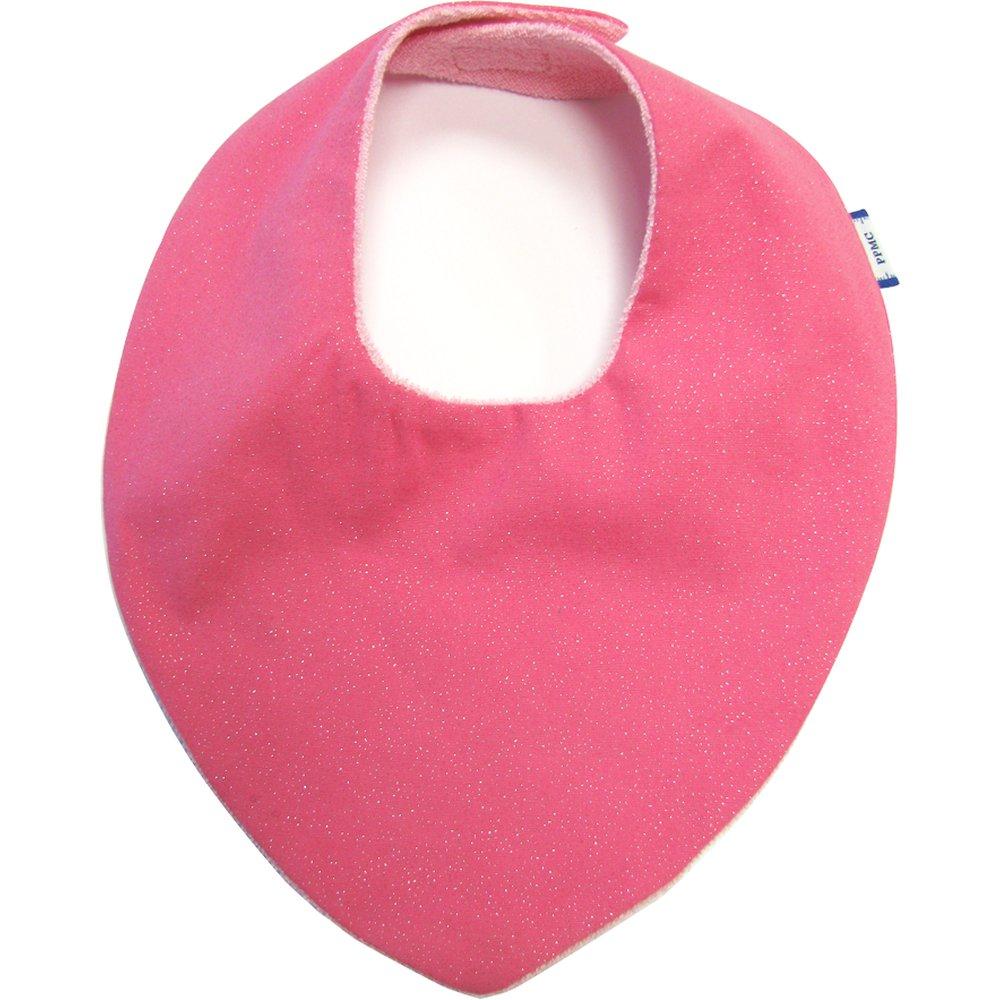 bandana bib rose pailleté