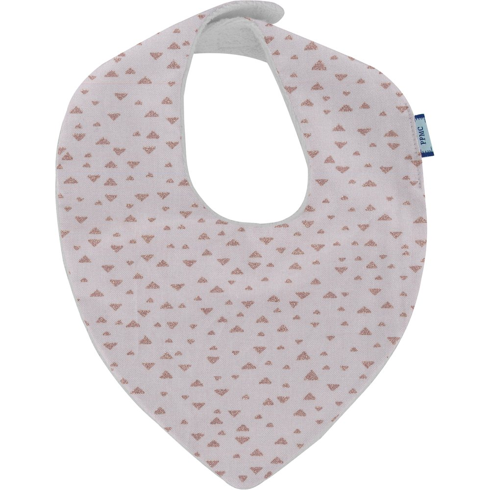 bandana bib gray copper triangle