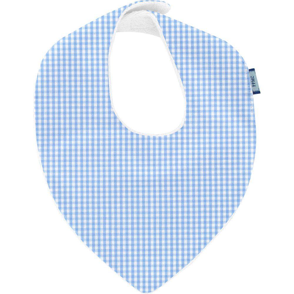 bandana bib sky blue gingham