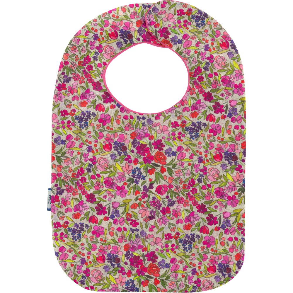 Bib - Baby size purple meadow
