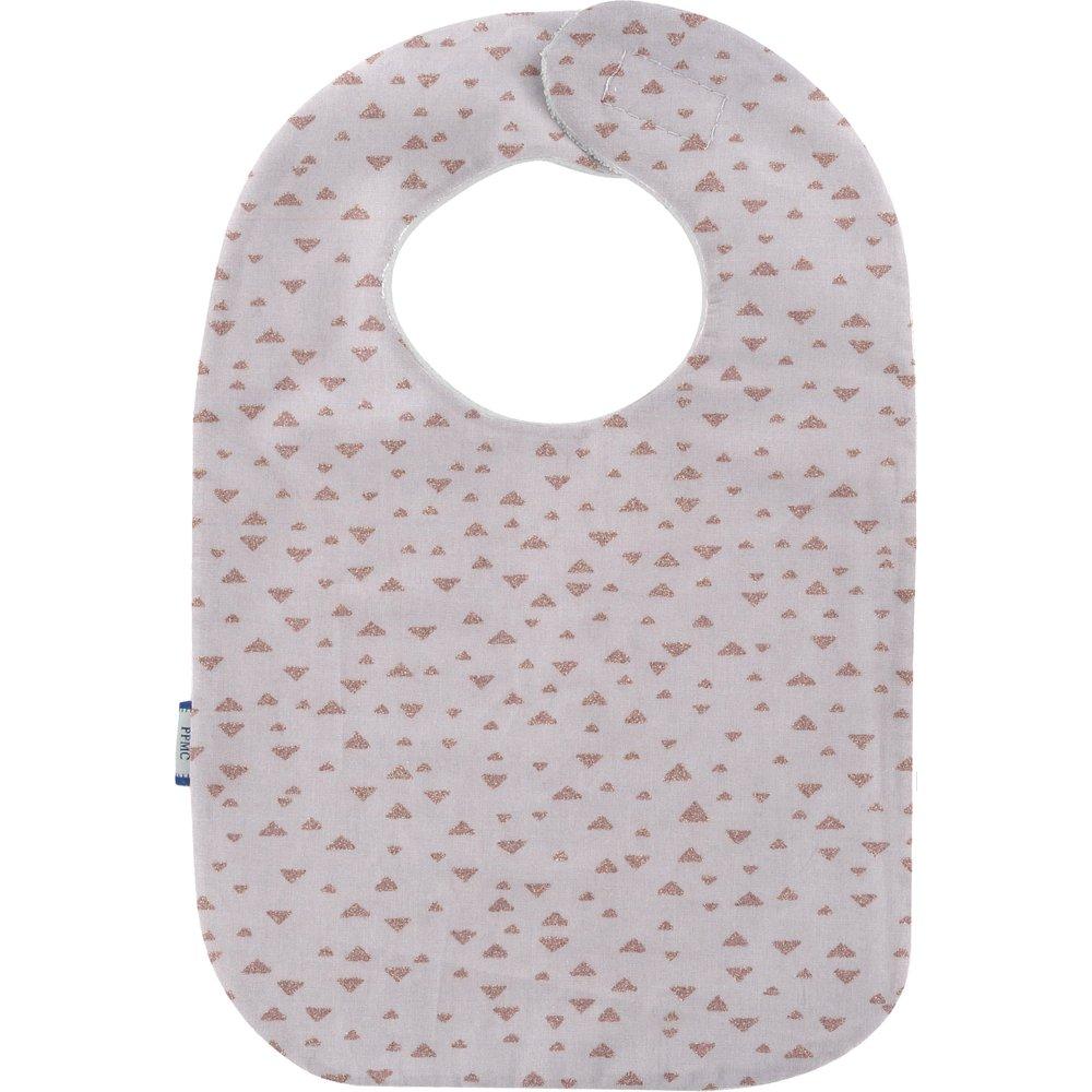 Bib - Baby size triangle cuivré gris