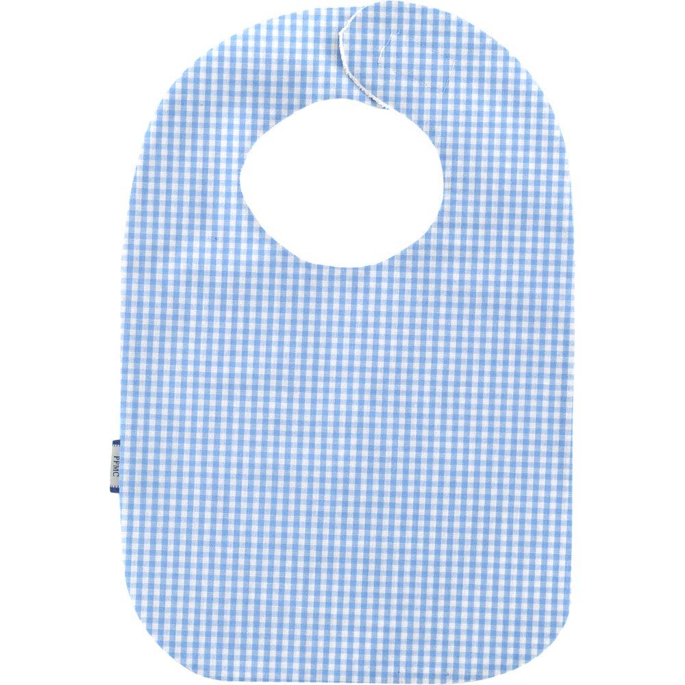 Bib - Baby size sky blue gingham