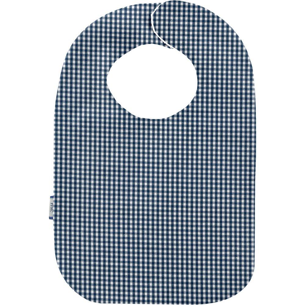 Babero para bebé  cuadros vichy azul marino