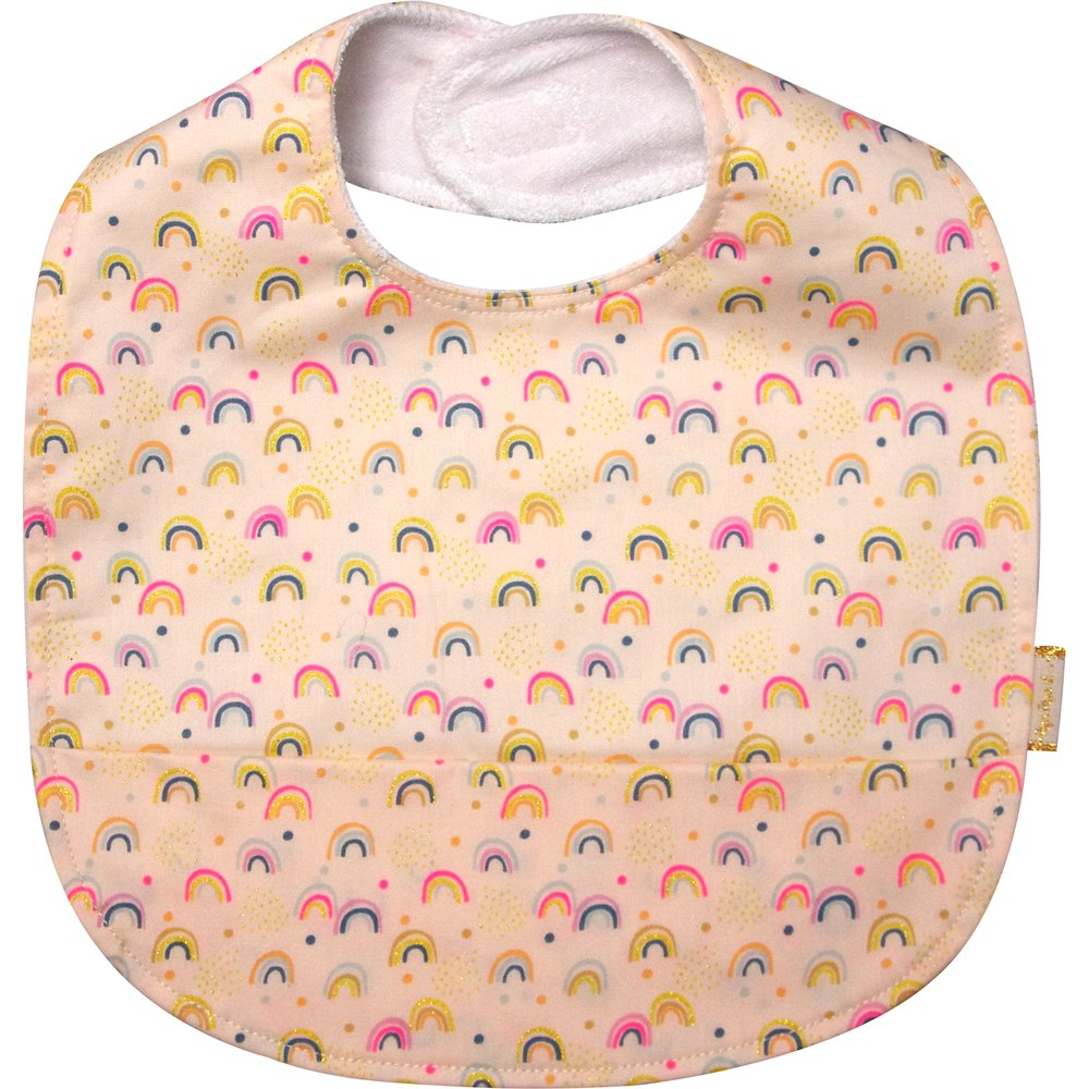 Coated fabric bib rainbow