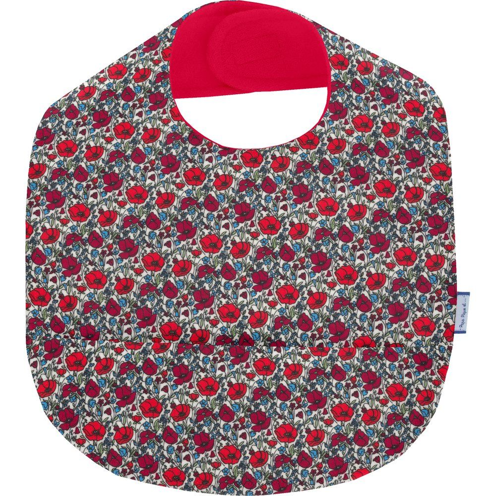 Coated fabric bib poppy