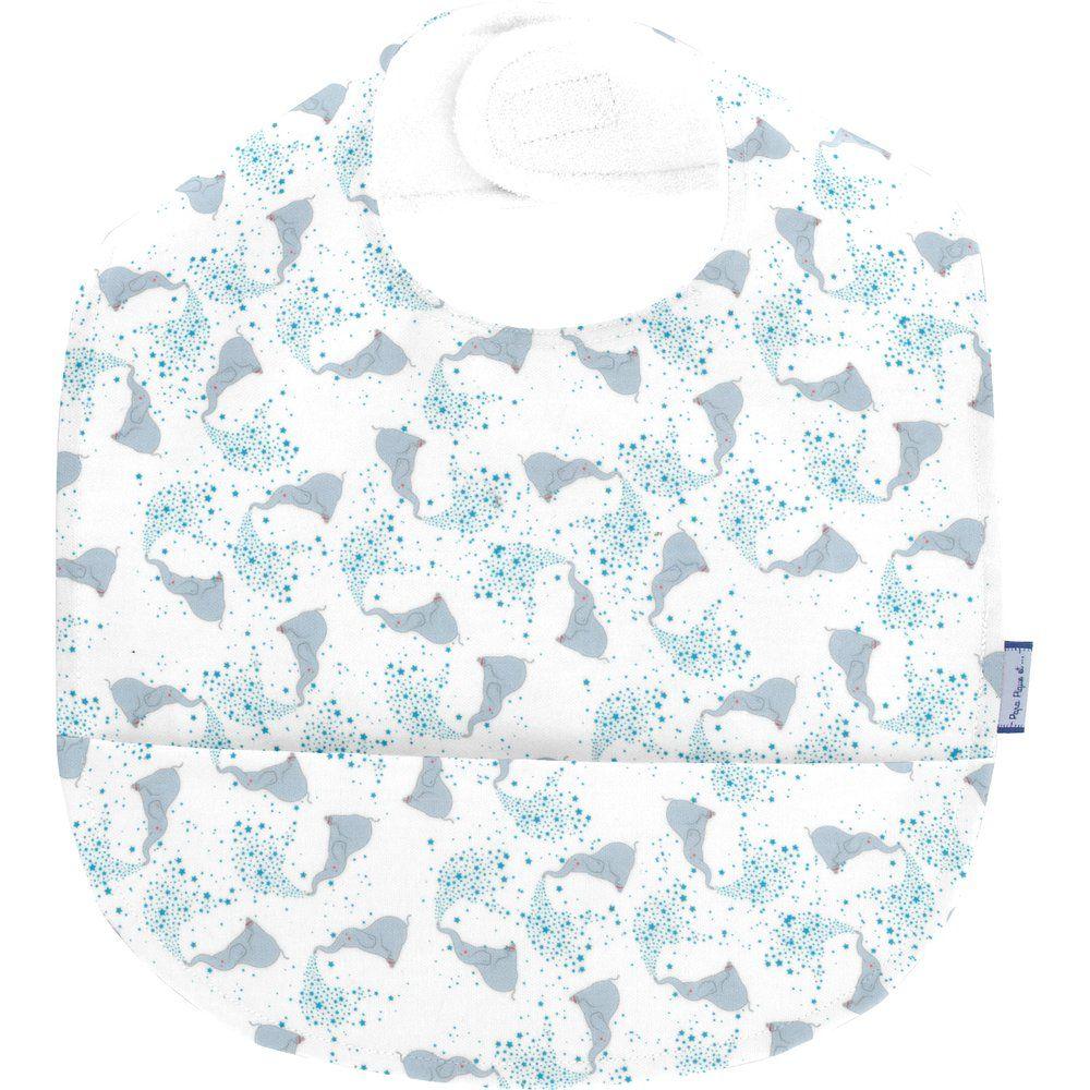 Coated fabric bib stars elephant