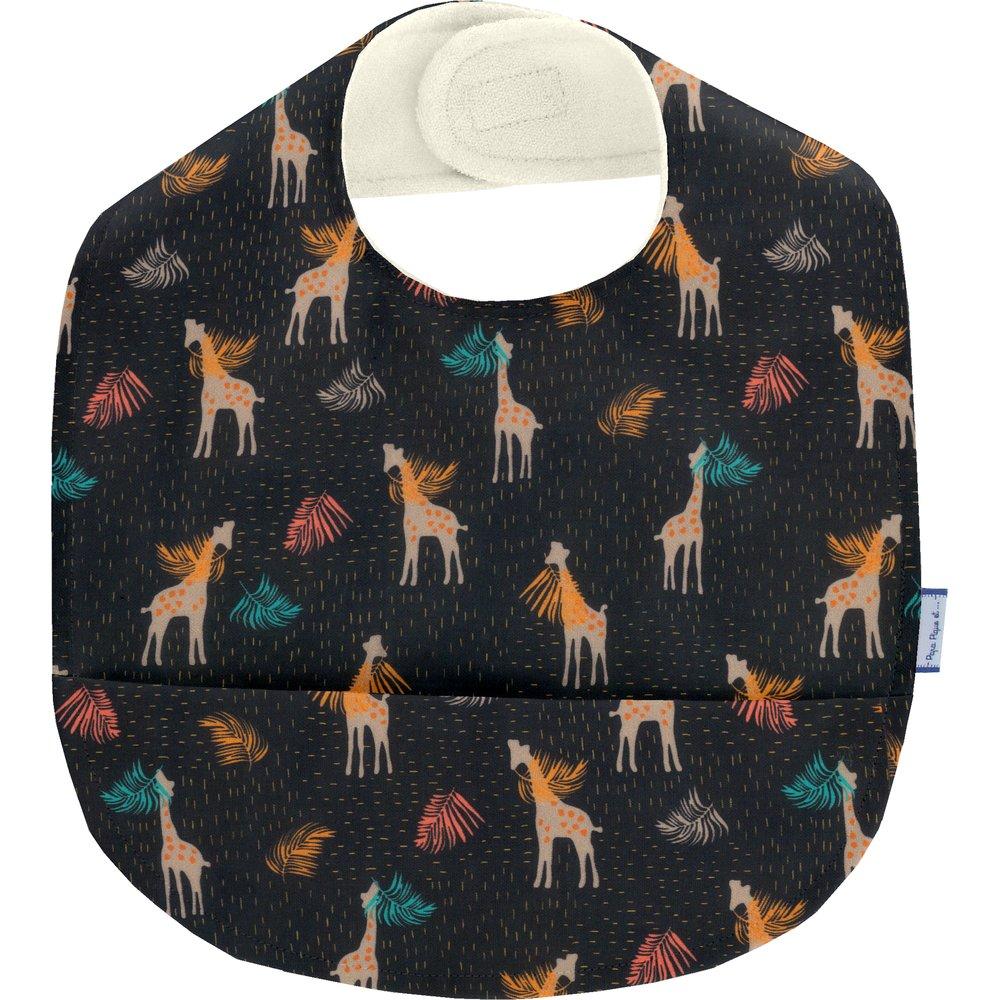 Coated fabric bib palma girafe