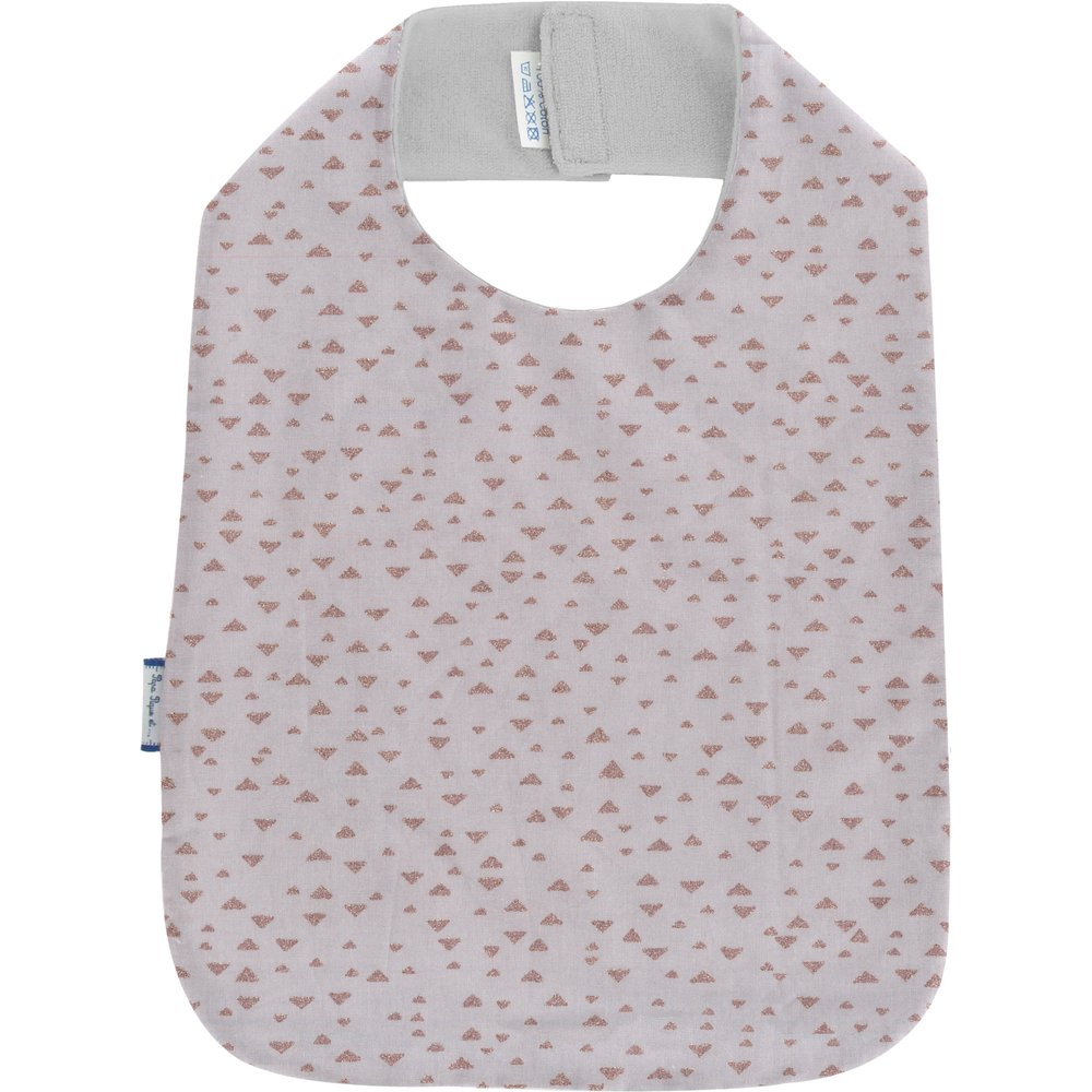 Bib - Child size triangle cuivré gris