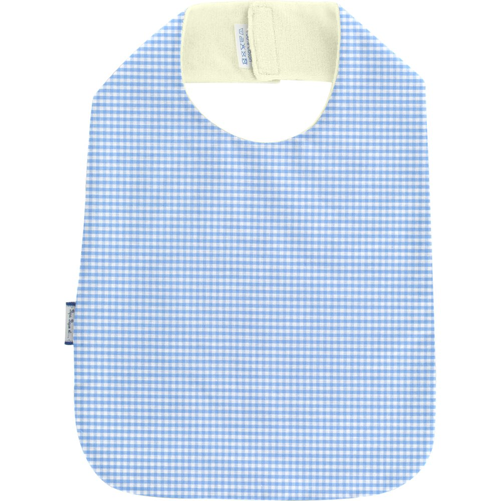 Bib - Child size sky blue gingham