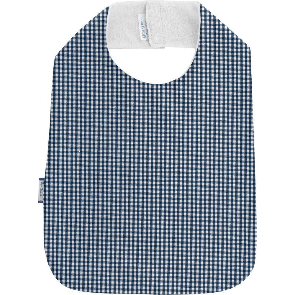 Bib - Child size navy blue gingham