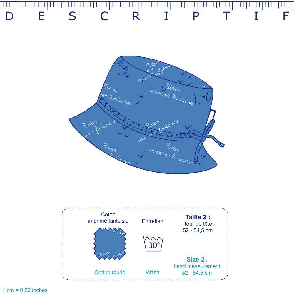 Chapeau de soleil enfant triangle or poudré