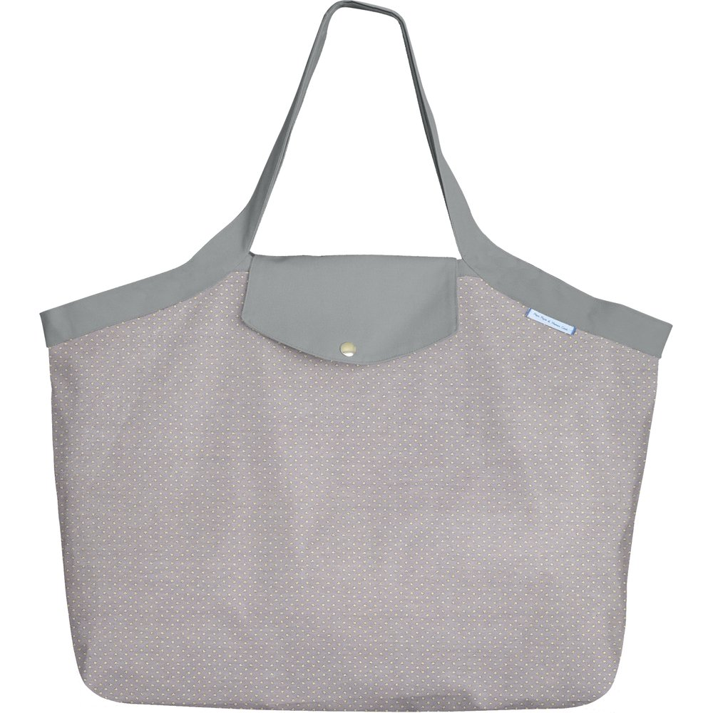 Tote bag with a zip etoile or gris