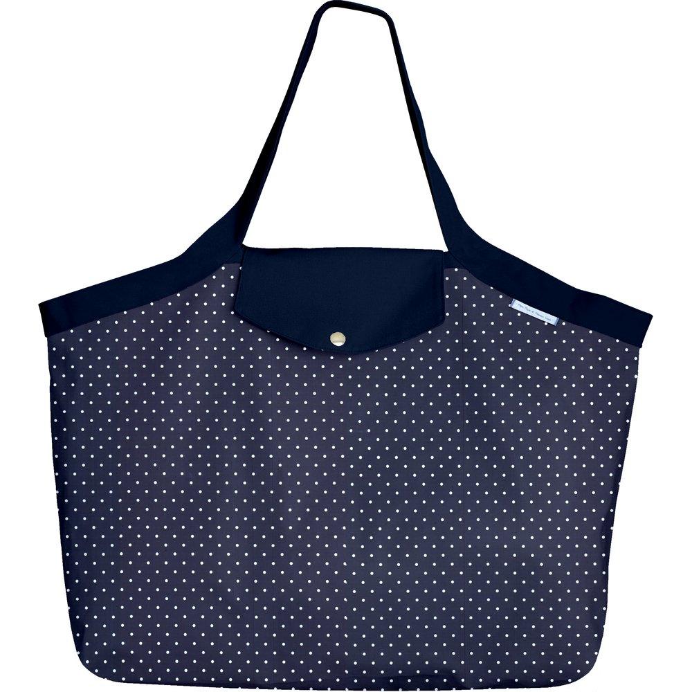 Grand sac cabas pois marine