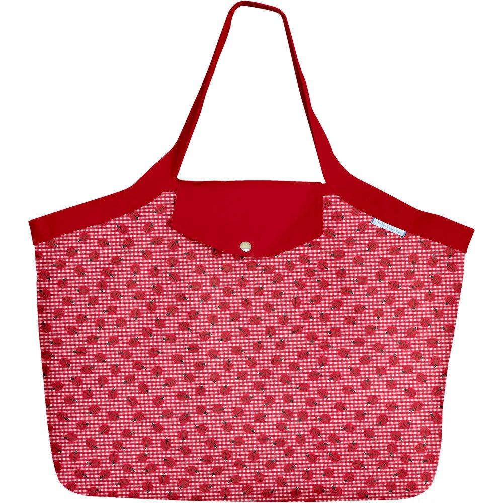 Grand sac cabas vichy coccinelle