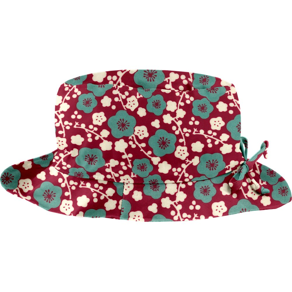 Rain hat adjustable-size 2  ruby cherry tree