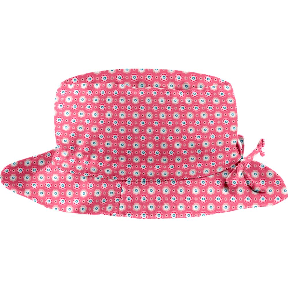 Rain hat adjustable-size 2  small flowers pink blusher
