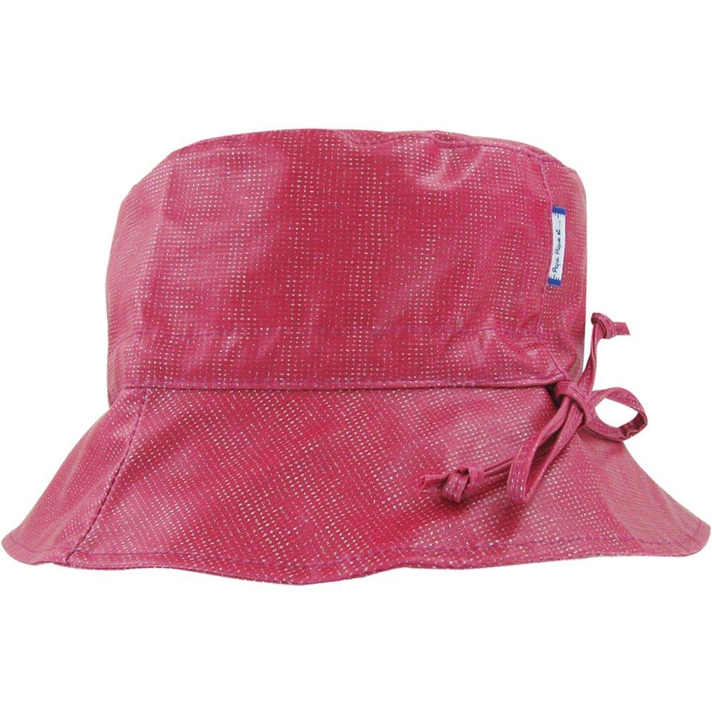 Rain hat adjustable-size 2  silver fuchsia