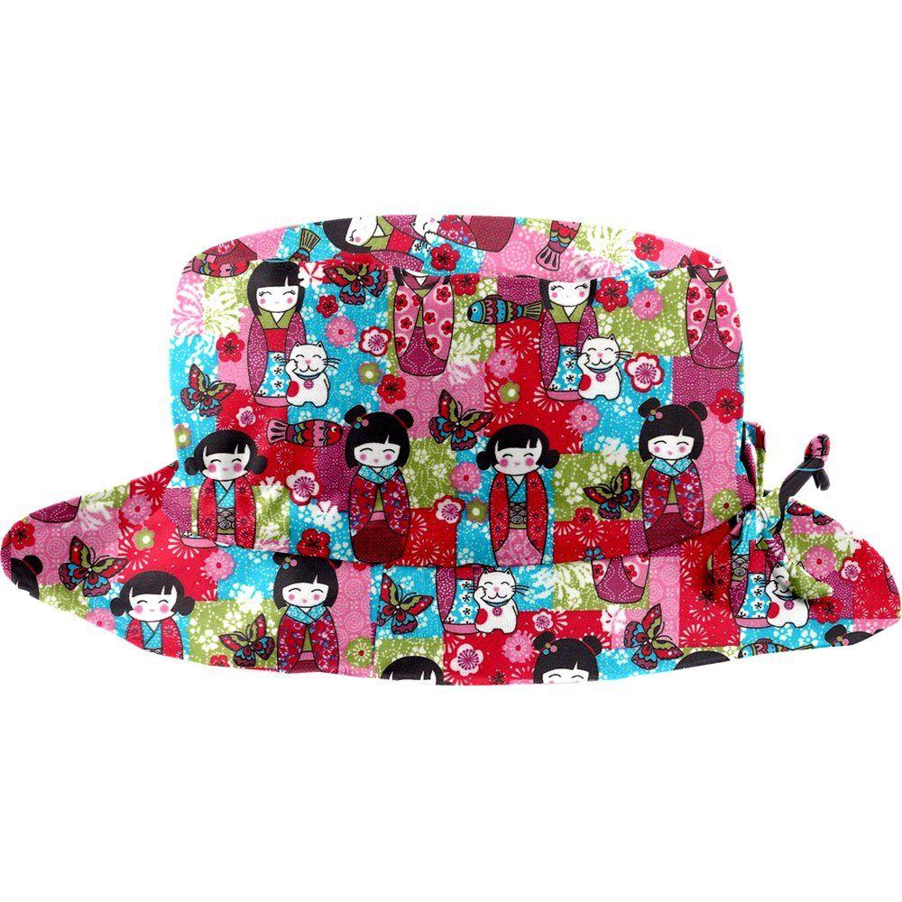Rain hat adjustable-size 2  kokeshis