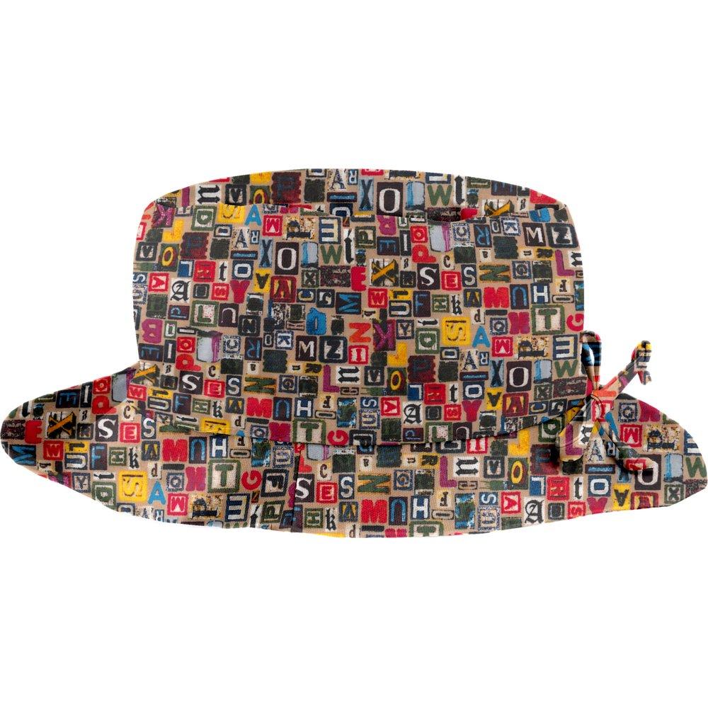 Chapeau pluie ajustable T2  lettres multi