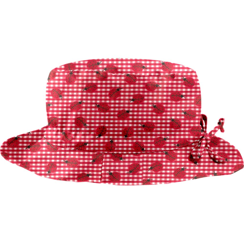 Rain hat adjustable-size 2  ladybird gingham